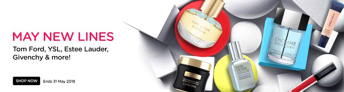 new arrivals beauty products elie saab perfume lancome estee lauder ysl cologne giorgio armani foundation givenchy lipstick
