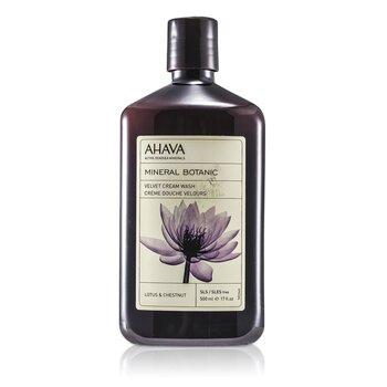 Ahava Mineral Botanic Velvet Cream Wash - Lotus Flower & Chestnut (Sensitive Skin)  500ml/17oz