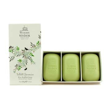 Woods Of Windsor White Jasmine Fine English Soap  3x100g/3.5oz
