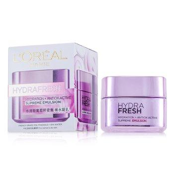 L'Oreal Hydrafresh Hydration+ Antiox Active Supreme Emulsion  50ml/1.7oz