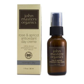 John Masters Organics Rose & Apricot Antioxidant Day Cream (For Normal/ Dry Skin)  30ml/1oz