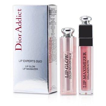 Christian Dior Dior Addict Lip Experts Duo (1x Lip Glow, 1x Lip Maximizer)  2pcs