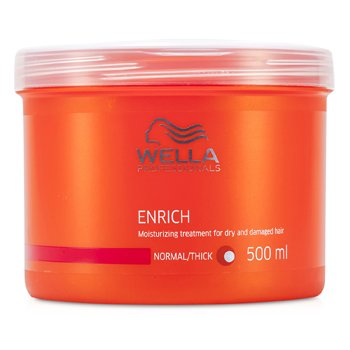 Wella Enrich Moisturizing Treatment For Dry & Damaged Hair (Normal/ Thick)  500ml/16.7oz