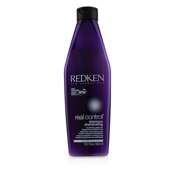 Real Control Nourishing Repair Shampoo - For Dense/ Dry/ Sensitized Hair (Interlock Protein Network)  300ml/10oz