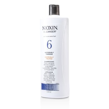 System 6 Cleanser For Medium to Coarse Hair, Chemically Treated, Noticeably Thinning Hair  1000ml/33.8oz