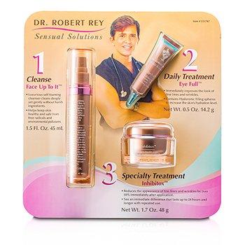 Dr Robert Rey Sensual Solutions Set: Cleanser 45ml + Wrinkle Filler 14.2g + Wrinkle Erase 48g  3pcs