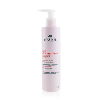Nuxe Comforting Cleansing Milk With Rose Petals (Normal To Dry, Sensitive Skin)  200ml/6.7oz