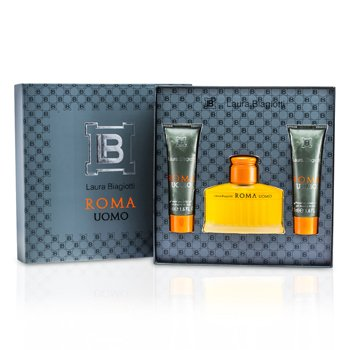 Laura Biagiotti Roma Coffret: Eau De Toilette Spray 75ml/2.5oz + Shower & Bath Gel 50ml/1.6oz x 2  3pcs