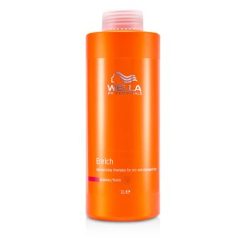 Wella Enrich Moisturizing Shampoo For Dry & Damaged Hair (Normal/Thick)  1000ml/33.8oz