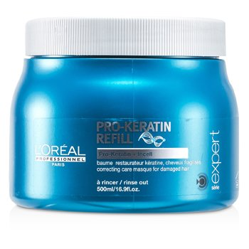 Professionnel Expert Serie - Pro-Keratin Refill Correcting Care Masque (For Damaged Hair)  500ml/16.9oz