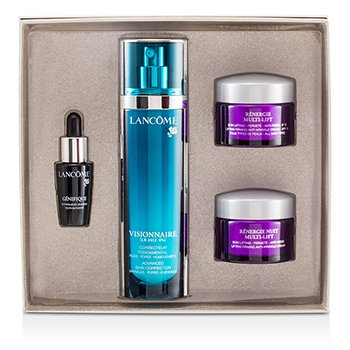 Lancome Visionnaire Set: Visionnaire [LR2412] 50ml + Renergie Nuit Multi-Lift 15ml + Renergie Multi-Lift SPF 15 15ml + Genifique 7ml  4pcs