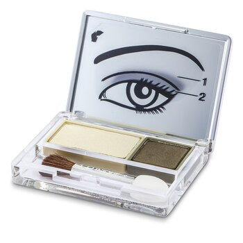 Clinique All About Shadow Duo - # 10 Mixed Greens  2.2g/0.07oz