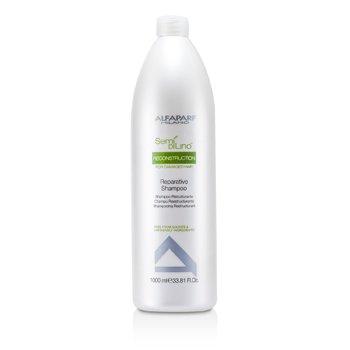 AlfaParf Semi Di Lino Reconstruction Reparative Shampoo (For Damaged Hair)  1000ml/33.81oz