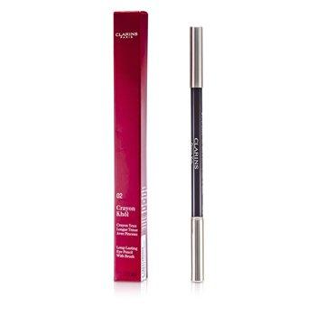 Clarins Long Lasting Eye Pencil with Brush - # 02 Intense Brown  1.05g/0.037oz