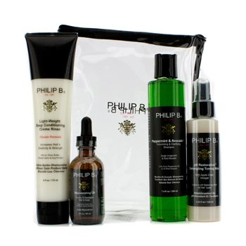 Philip B Four Step Hair & Scalp Treatment Set - Classic Formula (For All Hair Types)  4pcs