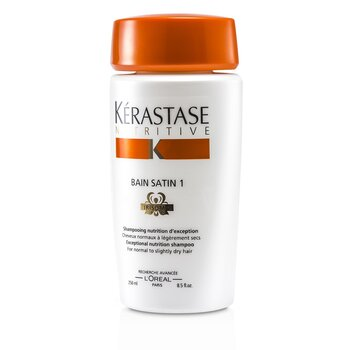 Nutritive Bain Satin 1 Exceptional Nutrition Shampoo (For Normal to Slightly Dry Hair)  250ml/8.5oz