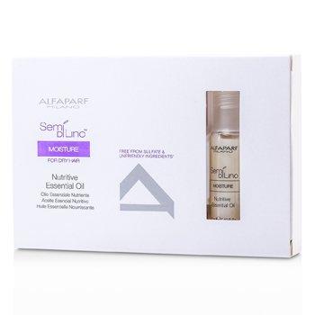 AlfaParf Semi Di Lino Moisture Nutritive Essential Oil (For Dry Hair)  6x13ml/0.43oz