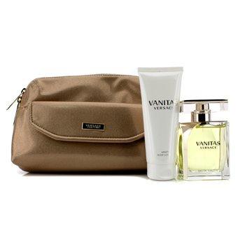 Vanitas Coffret: Eau De Toilette Spray 100ml/3.4oz + Body Lotion 100ml/3.4oz + Bag 2pcs+1Bag