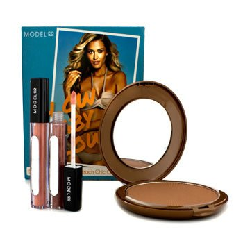 ModelCo Glow Baby Glow (1x Glow Summer Bronze Powder, 2x Shine Ultra Lip Gloss)  3pcs