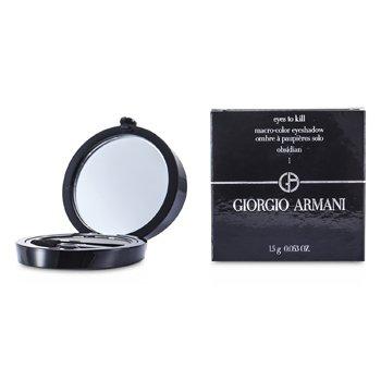 Giorgio Armani Eyes to Kill Solo Eyeshadow - # 01 Obsidian  1.5g/0.053oz