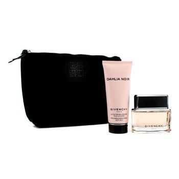 Dahlia Noir Coffret: Eau De Parfum Spray 50ml/1.7oz + Body Milk 100ml/3.3oz + Black Pouch  2pcs+1pouch