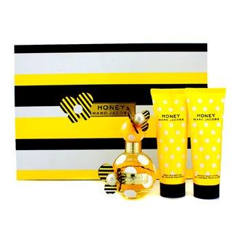Honey Coffret: Eau De Parfum Spray 50ml/1.7oz + Body Lotion 75ml/2.5oz + Shower Gel 75ml/2.5oz 3pcs