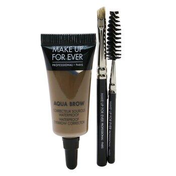 Make Up For Ever Aqua Brow Kit - #25 Ash  7ml/0.23oz