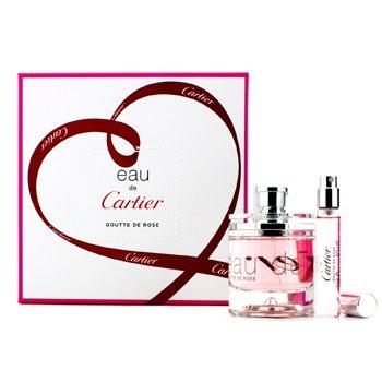 Cartier Eau De Cartier Goutte De Rose Coffret: Eau De Toilette Spray 50ml/1.6oz + Eau De Toilette Spray 9ml/0.3oz  2pcs