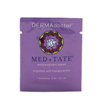 DERMAdoctor MED e TATE Antiperspirant Wipes  30 Packettes