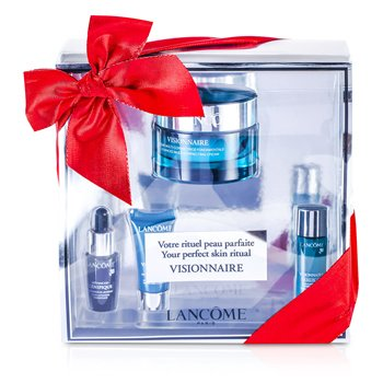 Lancome Visionnaire (Your Perfect Skin Ritual) Set: Advanced Cream 50ml + Skin Corrector 7ml + Concentrate 7ml + Eye Contour 5ml  4pcs