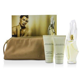 Cashmere Mist Coffret: Eau De Parfum Spray 100ml/3.4oz + Body Cleansing Lotion 75ml/2.5oz + Body Creme 75ml/2.5oz + Bag 3pcs+bag
