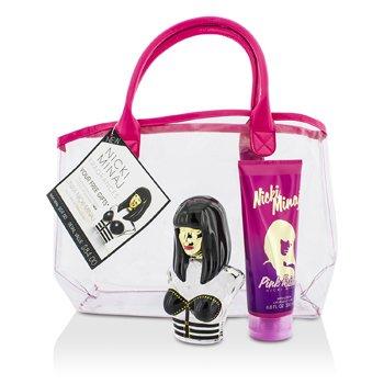 Nicki Minaj Onika Coffret: Eau De Parfum Spray 100ml/3.4oz + Pink Friday Body Lotion 200ml/6.8oz + Bag  2pcs+bag