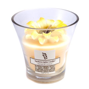 Floral Vase Premium Candle - Yellow Daisy  5 inch