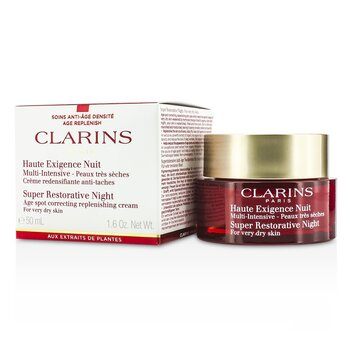 Clarins Super Restorative Night Age Spot Correcting Replenishing Cream (For Very Dry Skin)  50ml/1.6oz