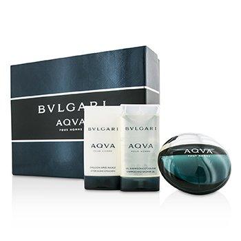 Aqva Pour Homme Coffret: Eau De Toilette Spray 50ml/1.7oz + After Shave Emulsion 75ml/2.5oz + Shower Gel 75ml/2.5oz  3pcs