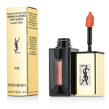 Yves Saint Laurent Rouge Pur Couture Vernis A Levres Pop Water Glossy Stain - #208 Wet Nude  6ml/0.2oz