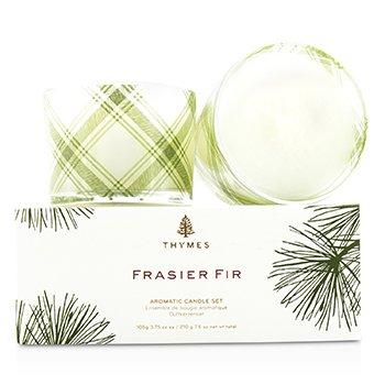 Thymes Aromatic Candle Set - Frasier Fir  2x105g/3.75oz