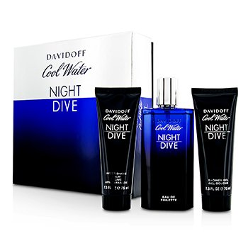 Cool Water Night Dive Coffret: Eau De Toilette Spray 125ml/4.2oz + After Shave Balm 75ml/2.5oz + Shower Gel 75ml/2.5oz  3pcs