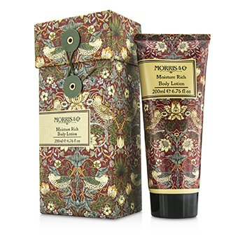 Morris And Co Strawberry Thief Moisture Rich Body Lotion  200ml/6.76oz