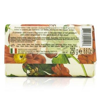 Dolce Vivere Fine Natural Soap - Venezia - Red Geranium, Rice Cloud & Cotton Flower  250g/8.8oz