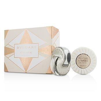 Bvlgari Omnia Crystalline Coffret: Eau De Toilette Spray 40ml/1.35oz + Scented Soap 150g/5.3oz  2pcs