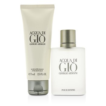 Acqua Di Gio Coffret: Eau De Toilette Spray 50ml/1.7oz + After Shave Balm 75ml/2.5oz  2pcs