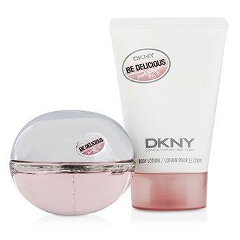 Be Delicious Fresh Blossom Coffret: Eau De Parfum Spray 50ml/1.7oz + Body Lotion 100ml/3.4oz  2pcs
