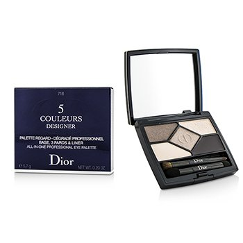 Christian Dior 5 Color Designer All In One Artistry Palette - No. 718 Taupe Design  4.4g/0.15oz