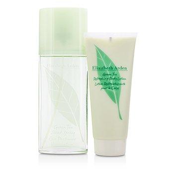 Green Tea Coffret: Eau Parfumee Spray 100ml/3.3oz + Body Lotion 100ml/3.3oz  2pcs