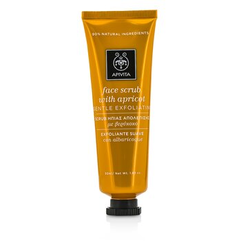 Apivita Face Scrub with Apricot - Gentle Exfoliating  50ml/1.83oz