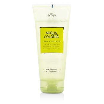 4711 Acqua Colonia Lime & Nutmeg Aroma Shower Gel  200ml/6.8oz