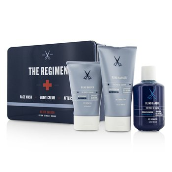 Blind Barber The Regimen Set: Facial Cleanser 200ml/6.8oz + Shave Cream 150ml/5oz + After Shave 100ml/3.3oz  3pcs