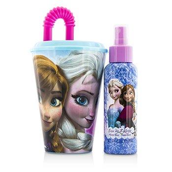 Disney Frozen Coffret: Eau De Toilette Spray 100ml/3.4oz + Plastic Cup with Straw + Bag  2pcs+1bag