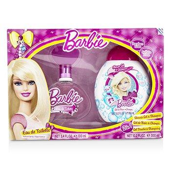 Barbie Coffret: Eau De Toilette Spray 100ml/3.4oz + Shower Gel & Shampoo 300ml/10.2oz  2pcs